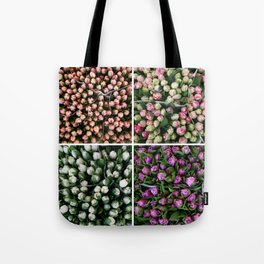 Tulips from Holland - pink and purple Tote Bag