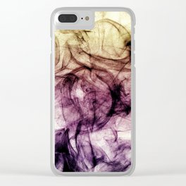 Beautiful Purple Brown Smoky Dust Clear iPhone Case