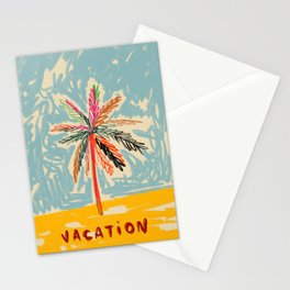 VACATION PALM TREE Stationery Cards