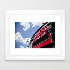Wrigley Field Sign - Pearl Jam Chicago 2013 Framed Art Print