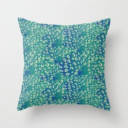 peacocks galore Throw Pillow