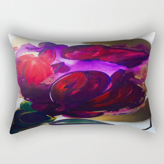 Purple and Gold Poppies Maybe? Rectangular Pillow