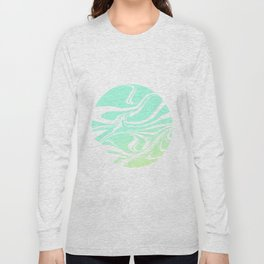 Round marble Long Sleeve T-shirt
