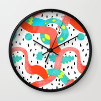 surrealism Wall Clocks featuring Pop surrealism White by Evatania