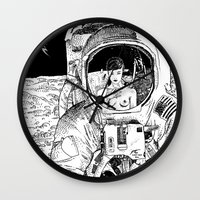 apollonia Wall Clocks featuring asc 333 - La rencontre rapprochée ( The close encounter) by From Apollonia with Love
