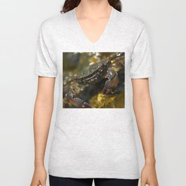 Crab Smiling Unisex V-Neck