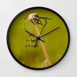 Beauty is in the Eye of the Beholder Wall Clock