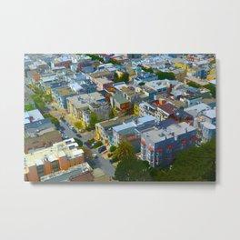 San Francisco Bird's Eye Metal Print