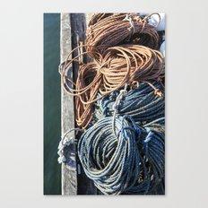 Fisherman's Ready - Maine Harbor Canvas Print