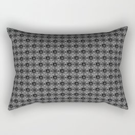 Graphite grey flower pattern dark grey sci-fi pattern Rectangular Pillow