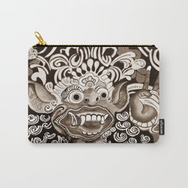 Bali Mask - Black and White Carry-All Pouch