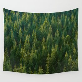 The Green Forest (Color) Wall Tapestry
