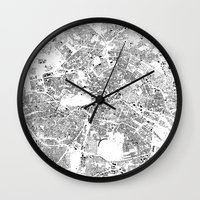 berlin Wall Clocks featuring BERLIN by Maps Factory