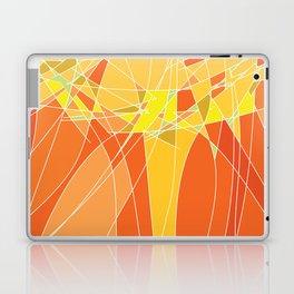 Abstract geometric orange pattern, vector illustration Laptop & iPad Skin