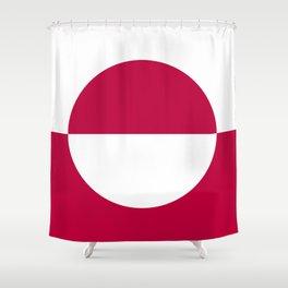 Greenland flag emblem Shower Curtain
