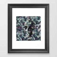 Camouflage Skull V2 Framed Art Print