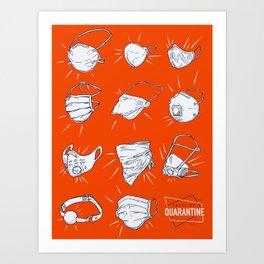 Faces of Quarantine Art Print