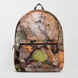 Colorful autumnal hazelnut tree's leaves Backpack