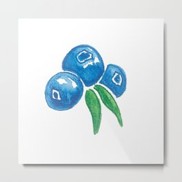 Why So Blueberry? Metal Print