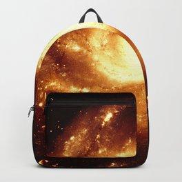 Golden Spiral Galaxy Backpack