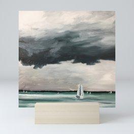 Sailboat Storm  Mini Art Print
