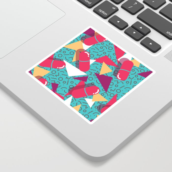 Pills Pattern 014 Sticker