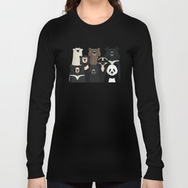 Bear family portrait Long Sleeve T-shirt