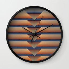 Notched Sunset Wall Clock