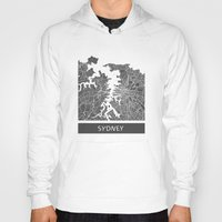 sydney Hoodies featuring Sydney map by Map Map Maps