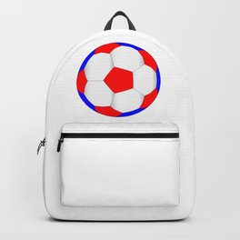 Red White And Blue Football Backpack