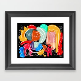 Love your family expressionist cubist street art Framed Art Print