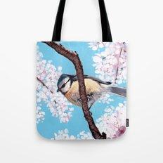 Cyanistes caeruleus Tote Bag