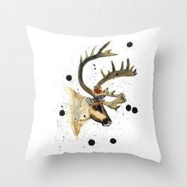 Mr Reindeer! Throw Pillow