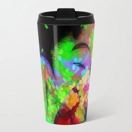 Geisha with a fan Travel Mug