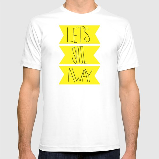 Let's Sail Away: Sandy Beach T-shirt