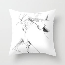 what what in the butt Throw Pillow