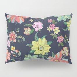 Dramatic Floral Pattern Pillow Sham