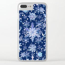 Snowflakes #3 Clear iPhone Case