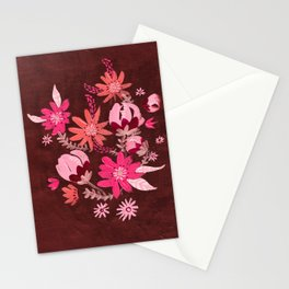 Cranberry Harvest Blooms Stationery Cards