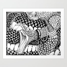 Prisoners - snake Art Print