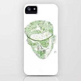 James Joyce - Hand-drawn Geometric Art Print - Green Gradient iPhone Case