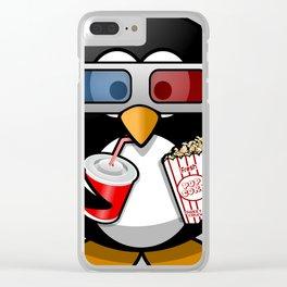 Cute Funny Cinema Penguin Cartoon Clear iPhone Case