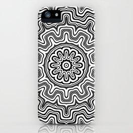 Mandala black 6 iPhone Case