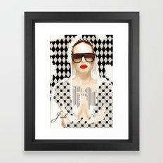 Jade. GEOMETRIC BEAUTY SERIES Framed Art Print