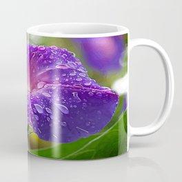 Morning Glory Petals and Dew Drops Vector Coffee Mug