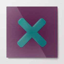 Letter X - 36 Days of Type  Metal Print