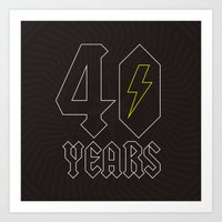 acdc Art Prints featuring ACDC/40 Years by Byway