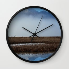 Autumn Mist Reflection Wall Clock
