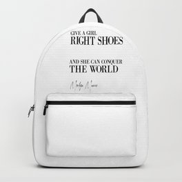 Gift For Her, Bedroom Decor, Wall Art, Shoes Poster, Shoes Quote Backpack