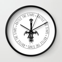Rattle the stars Wall Clock